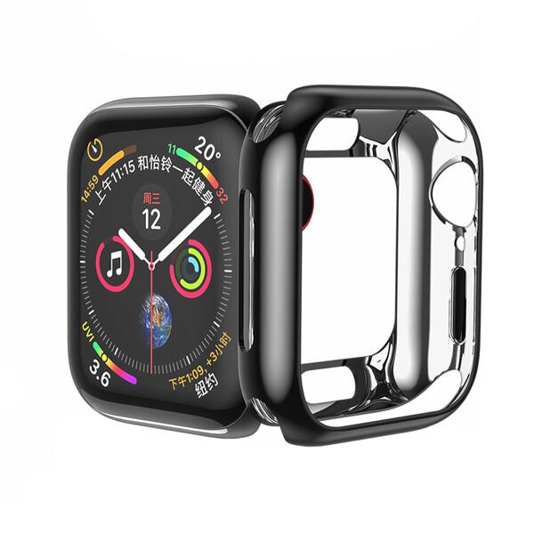 Силиконовый чехол HOCO TPU Case Black для Apple Watch 44mm SE   6   5   4
