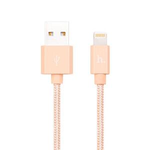 Купить Плетеный кабель HOCO UPF01 Golden Lightning to USB