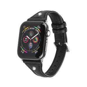 Купить Кожаный ремешок Hoco Ocean Wave Black для Apple Watch 38mm/40mm Series 5/4/3/2/1