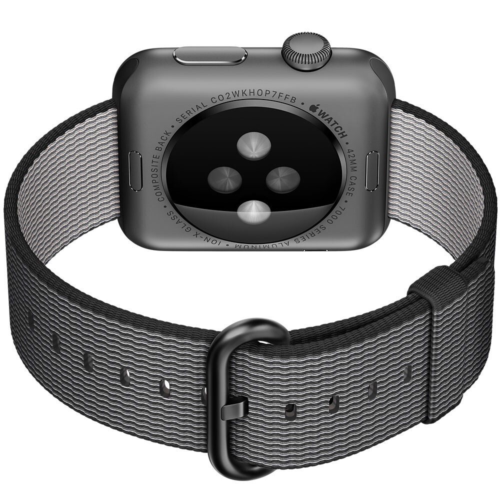Ремешок HOCO Woven Nylon Black для Apple Watch 38mm Series 1/2