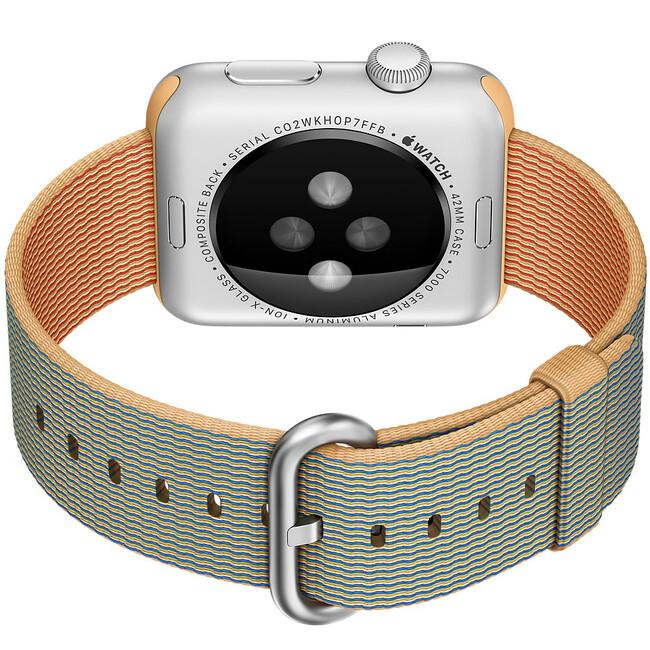 Ремешок HOCO Woven Nylon Gold/Royal Blue для Apple Watch 38mm