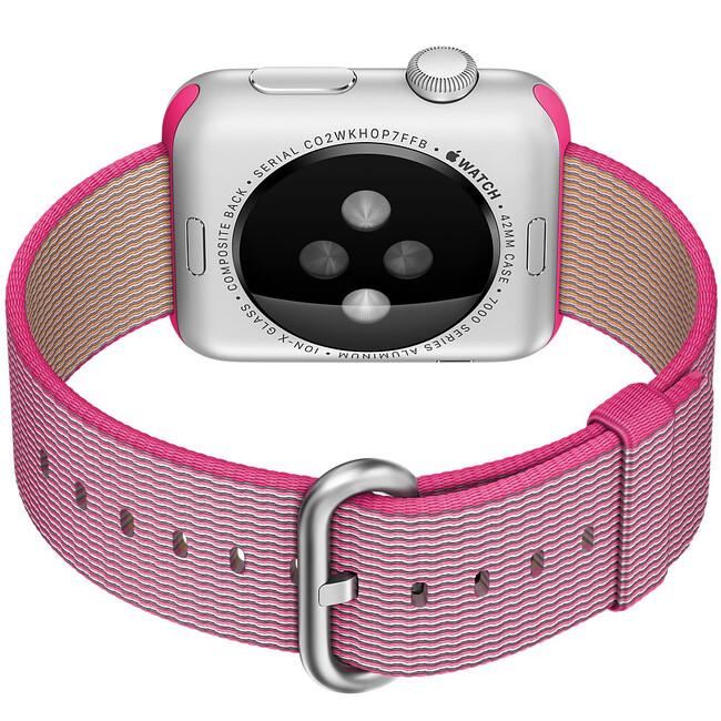 Ремешок HOCO Woven Nylon Pink для Apple Watch 38mm