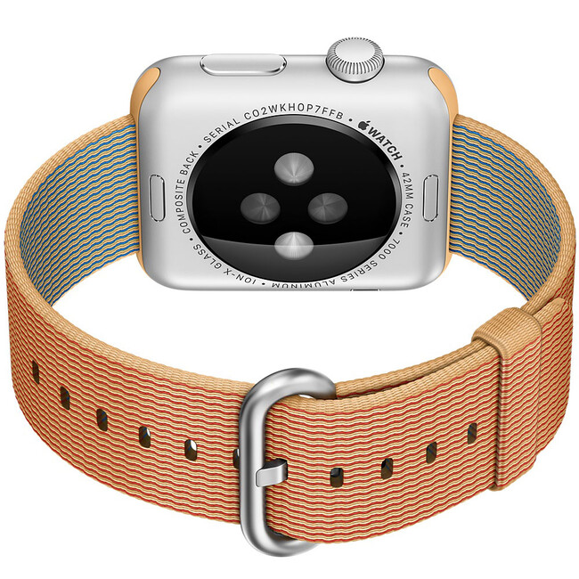 Ремешок HOCO Woven Nylon Gold/Red для Apple Watch 42mm