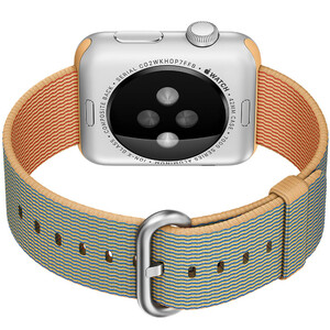 Купить Ремешок HOCO Woven Nylon Gold/Royal Blue для Apple Watch 42mm Series 1/2/3