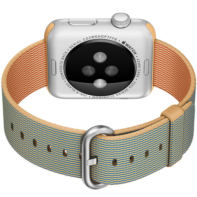 Ремешок HOCO Woven Nylon Gold/Royal Blue для Apple Watch 42mm