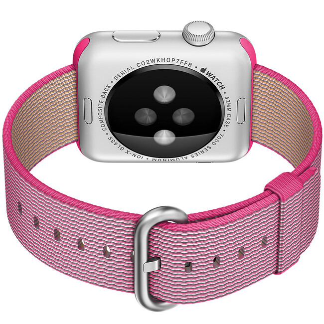 Ремешок HOCO Woven Nylon Pink для Apple Watch 42mm Series 1/2
