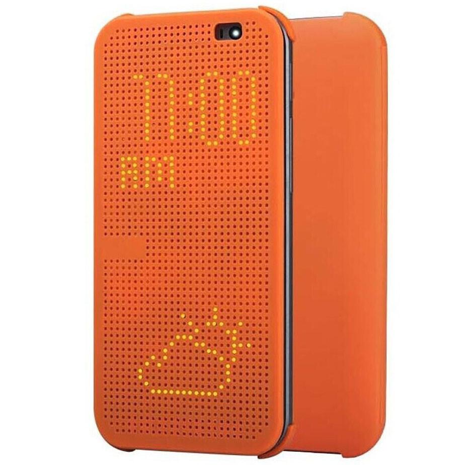 Чехол HTC Dot View для HTC One M8 Оранжевый