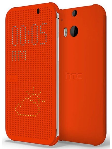Чехол HTC Dot View для HTC One M8 Красный
