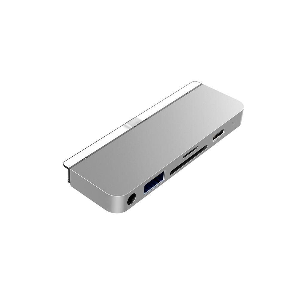 Хаб (адаптер) HyperDrive USB-C PD 6-in-1 для iPad Pro | Air 4 Silver