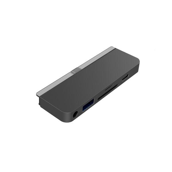 Хаб (адаптер) HyperDrive USB-C PD 6-in-1 для iPad Pro | Air 4 Space Gray