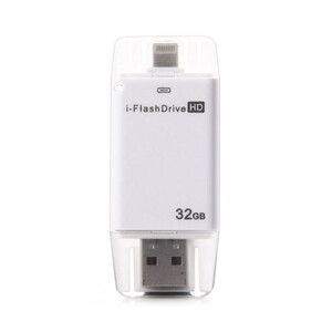 Купить USB-флешка i-FlashDrive HD 32GB Silver для iPhone/iPad/iPod