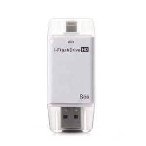 Купить USB-флешка i-FlashDrive HD 8GB Silver для iPhone/iPad/iPod