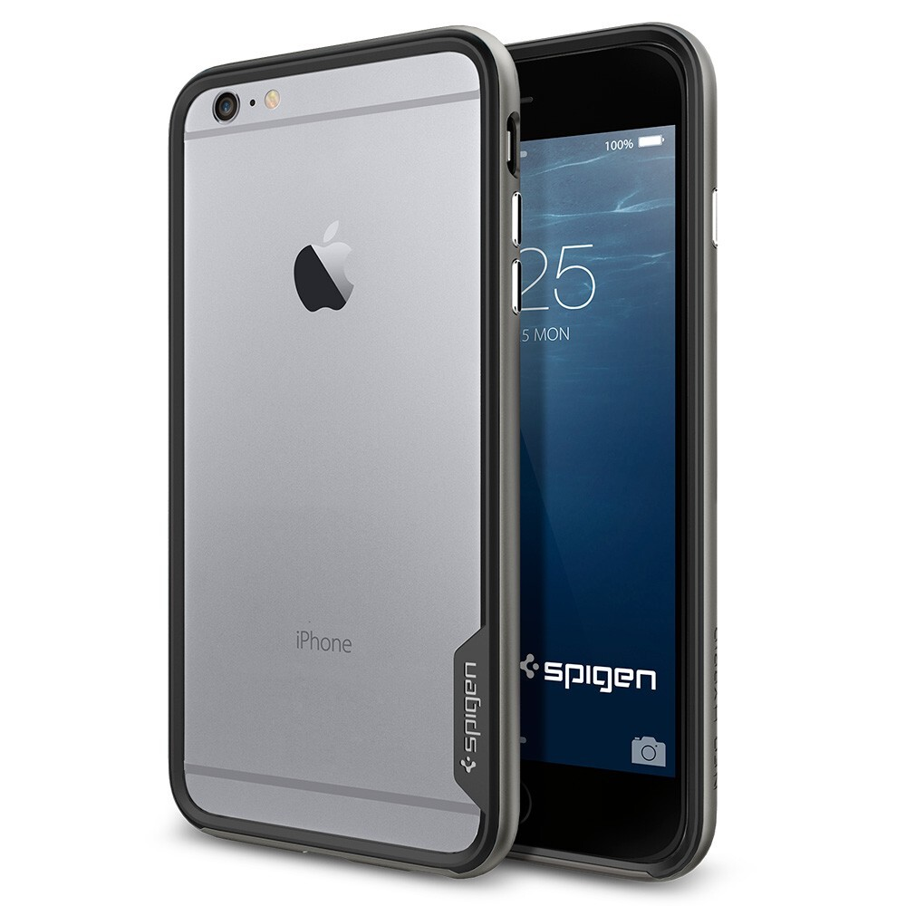 Бампер Spigen Neo Hybrid EX Gunmetal для iPhone 6 Plus/6s Plus