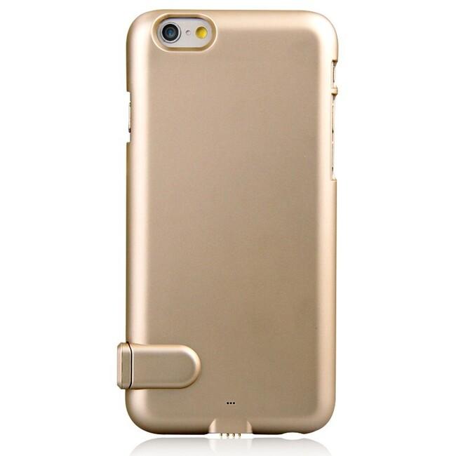 Ультратонкий чехол-аккумулятор iMUCA Slim Power Gold для iPhone 6/6s