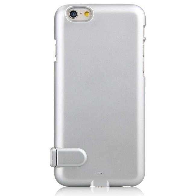 Ультратонкий чехол-аккумулятор iMUCA Slim Power Silver для iPhone 6/6s