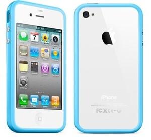 """Купить Чехол Apple """"Бампер"""" для iPhone 4/4S Голубой"""