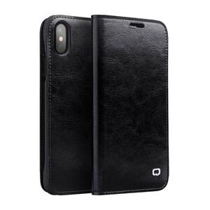 Купить Кожаный чехол-книжка Qialino Classic Leather Wallet Case Black для iPhone X