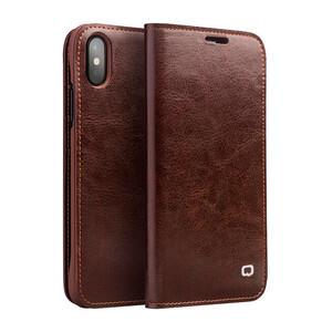 Купить Кожаный чехол-книжка Qialino Classic Leather Wallet Case Brown для iPhone X