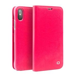 Купить Кожаный чехол-книжка Qialino Classic Leather Wallet Case Pink для iPhone X