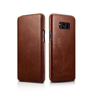 Купить Кожаный флип-чехол iCarer Brown для Samsung Galaxy S8