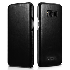 Купить Кожаный флип-чехол iCarer Black для Samsung Galaxy S8 Plus