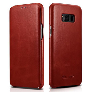 Купить Кожаный чехол-книжка iCarer Red для Samsung Galaxy S8 Plus