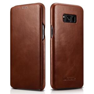 Купить Кожаный флип-чехол iCarer Brown для Samsung Galaxy S8 Plus
