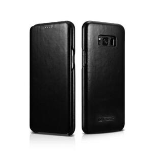 Купить Кожаный флип-чехол iCarer Black для Samsung Galaxy S8