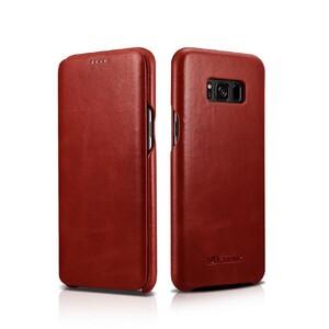 Купить Кожаный флип-чехол iCarer Red для Samsung Galaxy S8