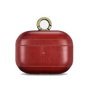 Купить Красный кожаный чехол с карабином для Apple AirPods Pro iCarer Vintage для Apple AirPods Pro