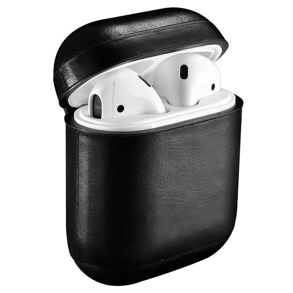 Кожаный чехол iCarer Vintage Series Black для Apple AirPods