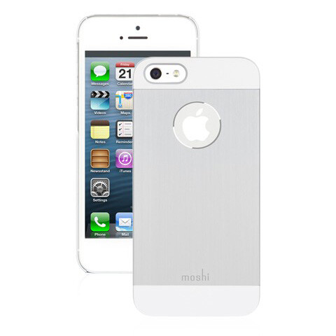 Чехол moshi iGlaze Armour Silver для iPhone 5/5S/SE