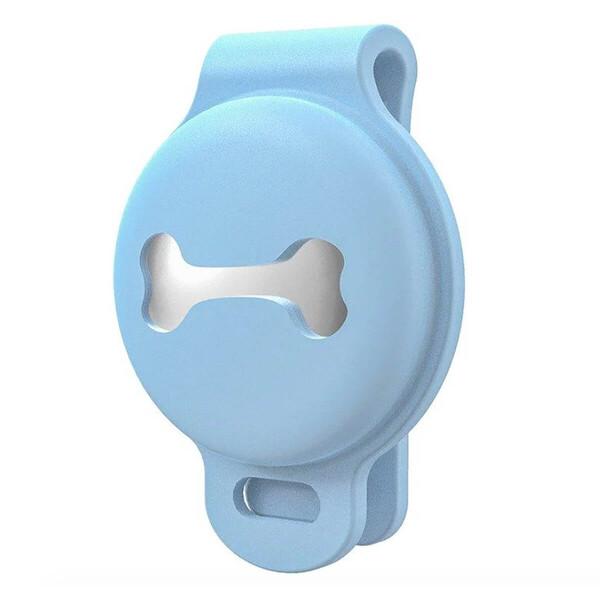 Силиконовый чехол с зажимом на ошейник iLoungeMax Case Clip Blue для AirTag