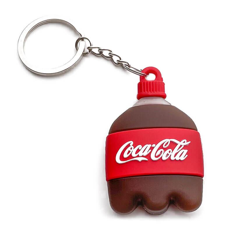 Силиконовый брелок с кольцом iLoungeMax Funny Cartoon Case Coca-Cola для AirTag