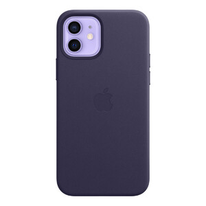 Купить Кожаный чехол iLoungeMax Genuine Leather Case MagSafe Deep Violet для iPhone 12 | 12 Pro ОЕМ