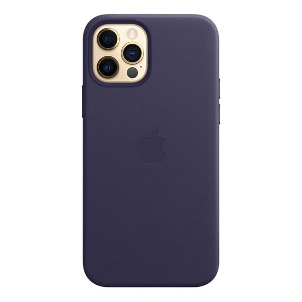 Кожаный чехол iLoungeMax Genuine Leather Case MagSafe Deep Violet для iPhone 12 Pro Max ОЕМ