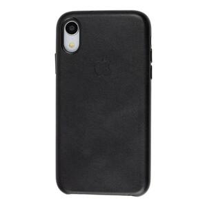 Черный кожаный чехол iLoungeMax Leather Case Black для iPhone XR OEM