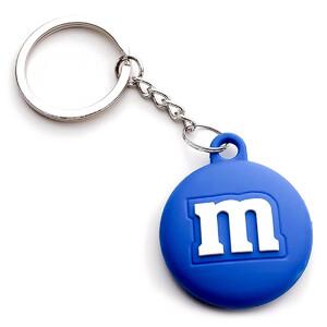 Купить Силиконовый брелок с кольцом iLoungeMax Funny Cartoon Case M&M's Blue для AirTag