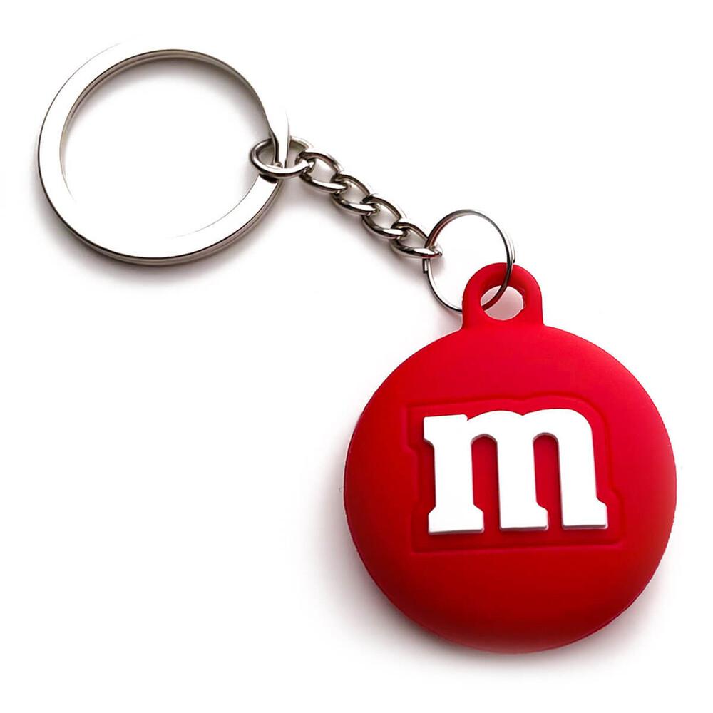 Силиконовый брелок с кольцом iLoungeMax Funny Cartoon Case M&M's Red для AirTag