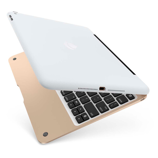Чехол-клавиатура Incipio ClamCase Pro White & Gold для iPad Air 2