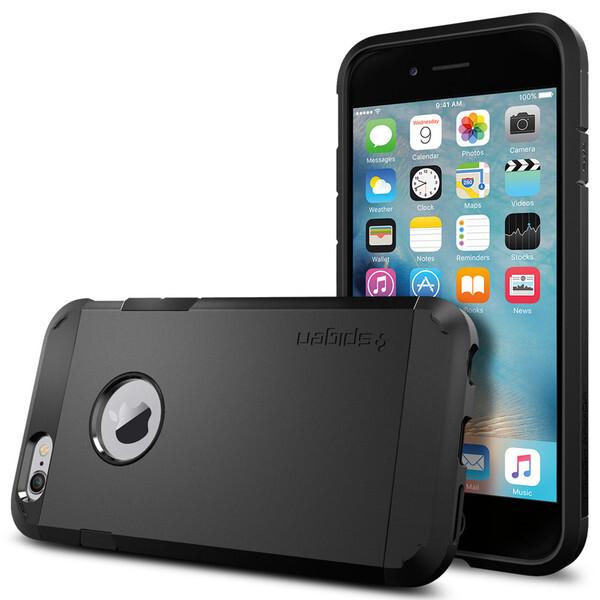 Чехол Spigen Tough Armor Smooth Black для iPhone 6/6s