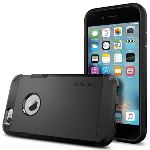 Купить Чехол Spigen Tough Armor Smooth Black для iPhone 6/6s