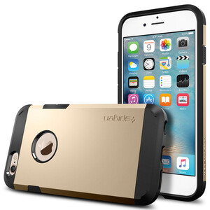 Купить Чехол Spigen Tough Armor Champagne Gold для iPhone 6/6s