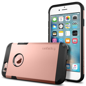 Купить Чехол Spigen Tough Armor Rose Gold для iPhone 6/6s