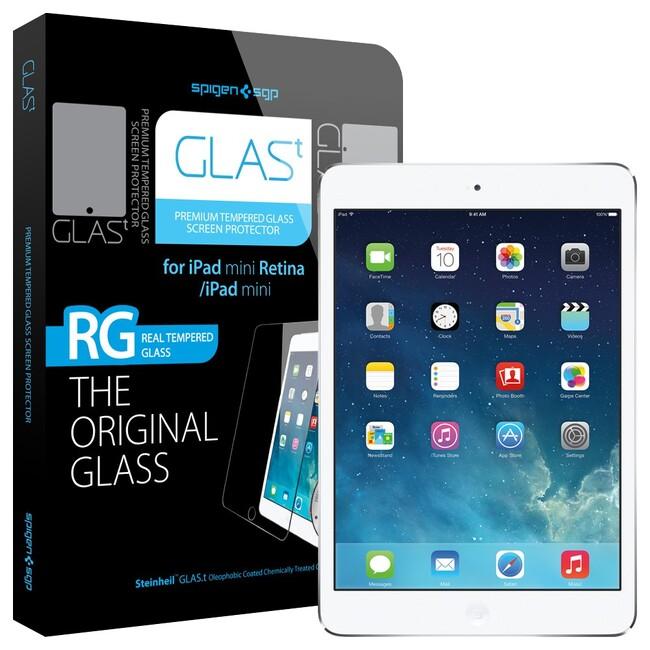 Защитное стекло Spigen GLAS.t для iPad Mini 1/2/3