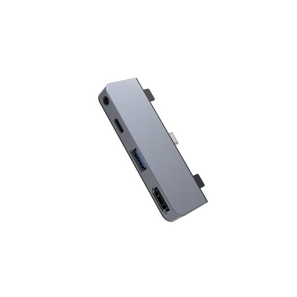 Хаб (адаптер) HyperDrive 4-in-1 USB-C 4K30Hz HDMI Hub для iPad Pro | Air Silver