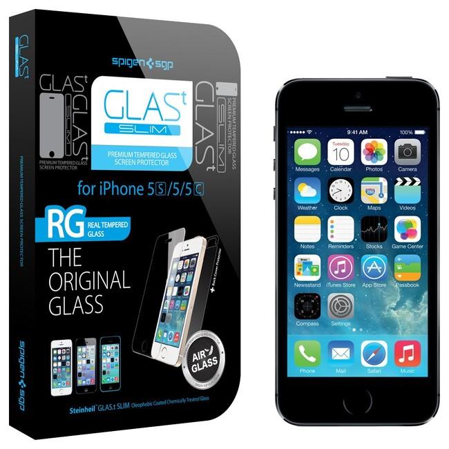 Защитное стекло Spigen SGP GLAS.t SLIM для iPhone 5/5S/SE/5C