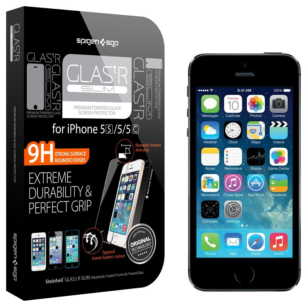 Защитное стекло Spigen SGP GLAS.tR SLIM для iPhone 5/5S/SE/5C