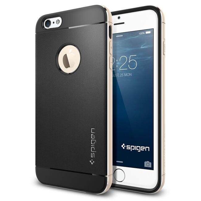 Чехол Spigen Neo Hybrid Metal Champagne Gold для iPhone 6/6s Plus