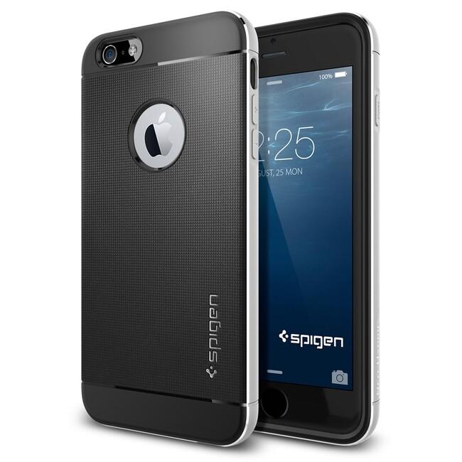 Чехол Spigen Neo Hybrid Metal Satin Silver для iPhone 6/6s Plus